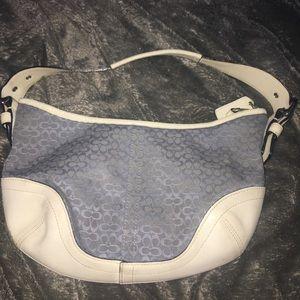 Vintage Coach Signature Baby Blue Handbag